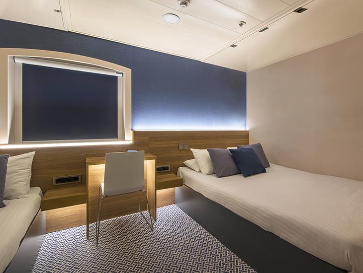 Formica laminate ocean liner cabin 730x550