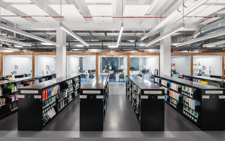 ETS library featuring Formica® Laminate, Formica Infiniti® and Formica® Writable Surfaces