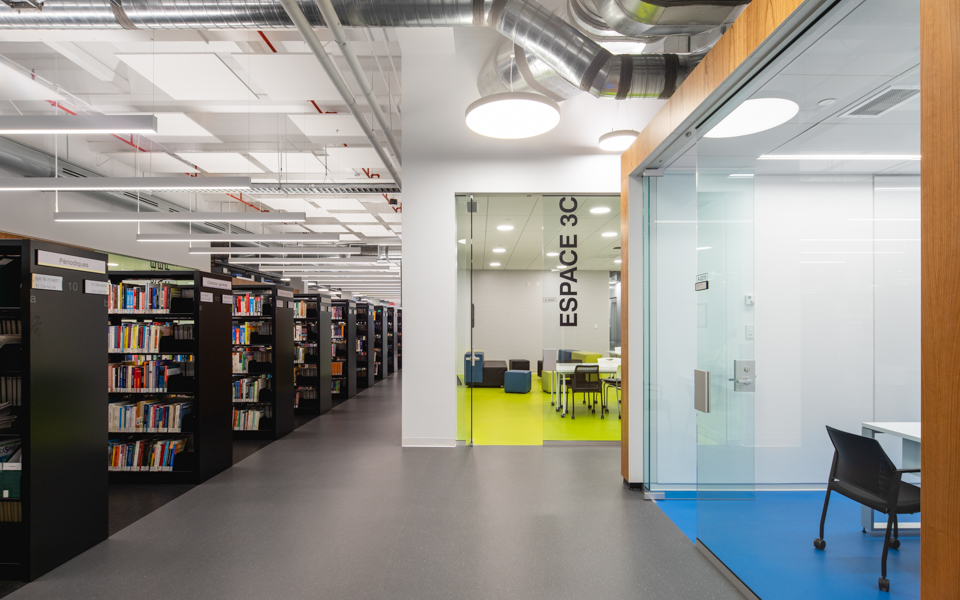 ETS library featuring Formica® Laminates