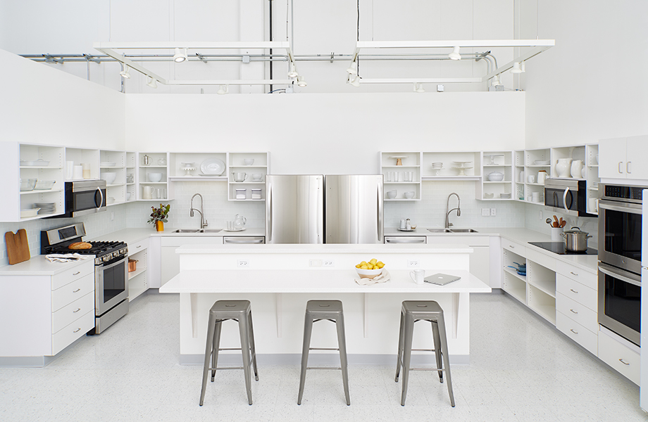 Meredith Test Kitchen with lemons and laptop