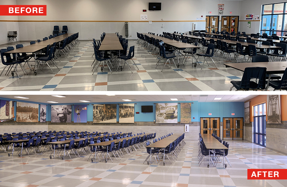 Llano HS Before and After