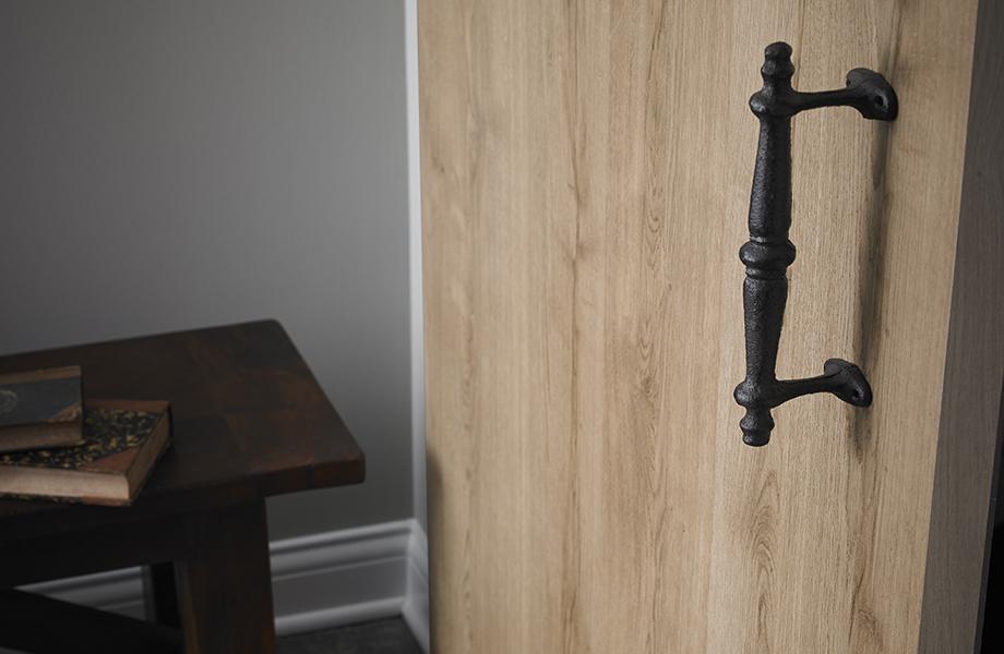 barn door with fancy handle