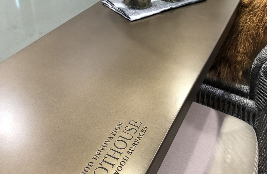 Metallics were spotted at Grothouse at KBIS 2019