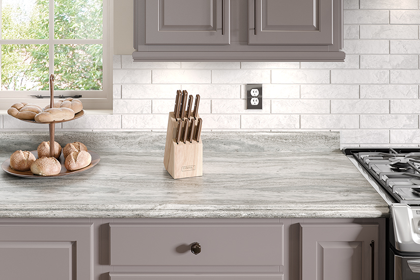 9302 Fantasy Marble Postform kitchen, High Pressure Laminate HPL Formica® 180fx®