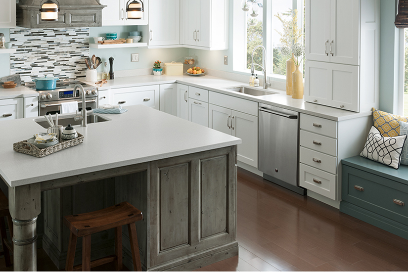 Farmhouse kitchen 733 Mirage Formica Solid Surfacing