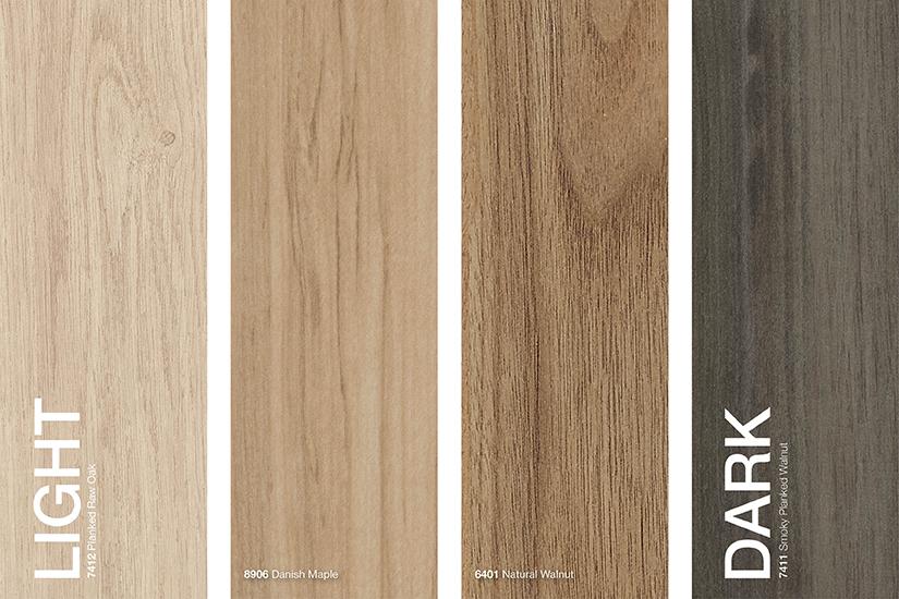 Formica® Brand Woodgrains Laminates colours