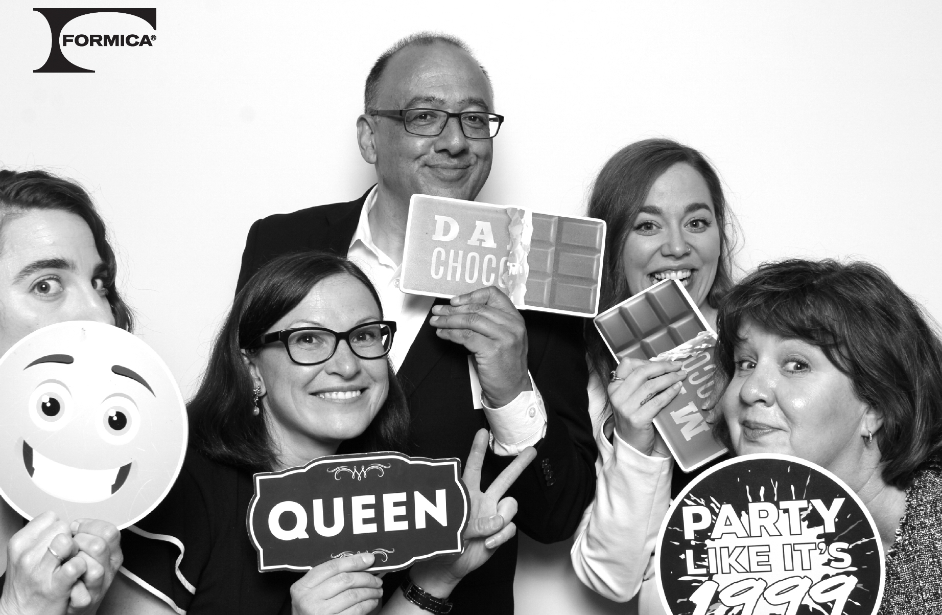 The Official Formica Canada Inc. Launch Evening in Toronto - Marketing and Sales Team at photobooth