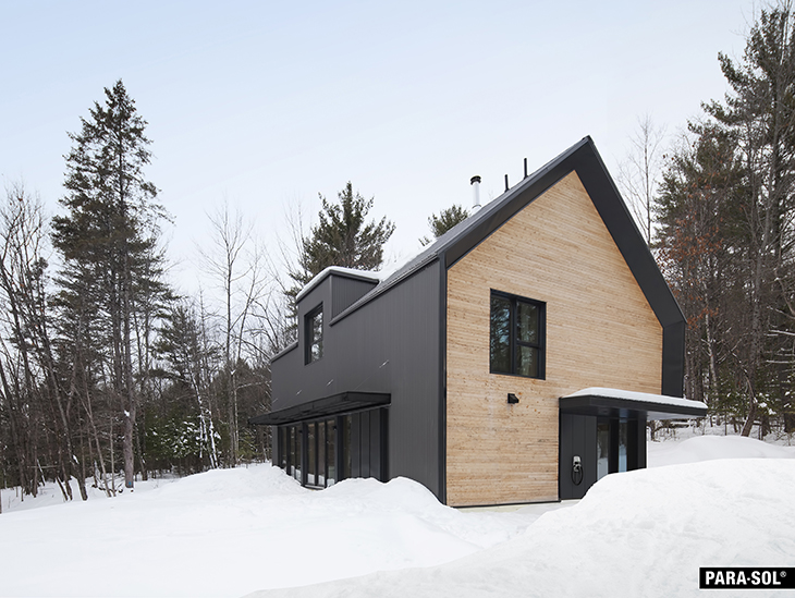 Formica Canada partners with Eco Home, real prefabricated architect designed Eco Home, Eco Habitat S1600 installed near Ottawa