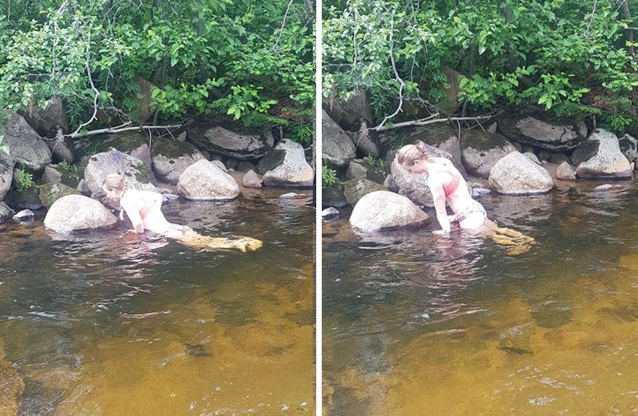 Cendrine Browne water exercises