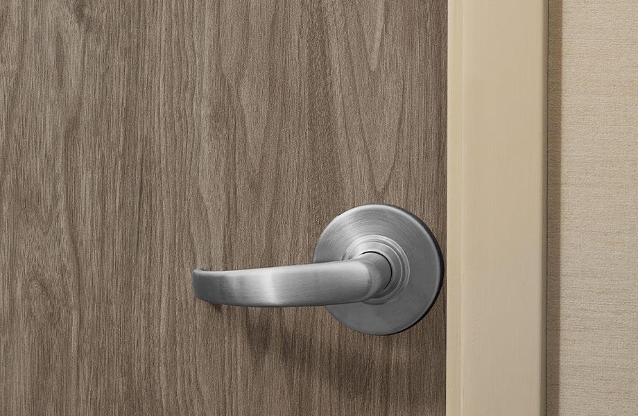 5788-NG Hazel Walnut wood laminate commercial door with handle