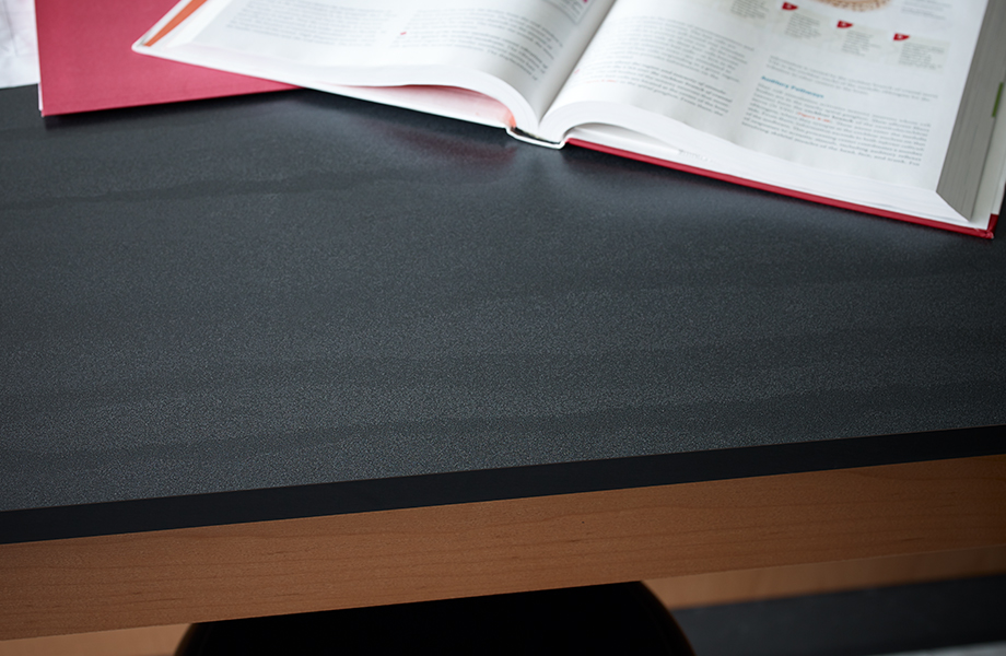 Formica® Laminate 9510 58 Layered Black Sand 7288 58 Ginger Root Maple
