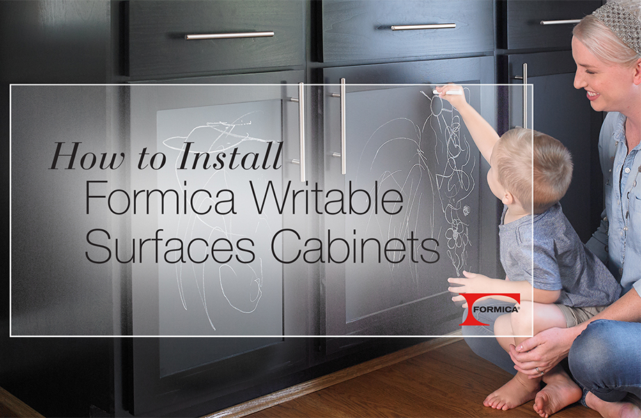DIY Formica® Writable Surface Cabinets