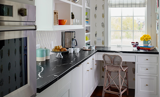 Kitchen nook coutertop 7403 Nero Marquina 180fx