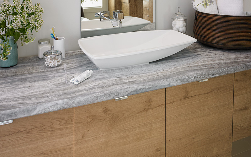 Bathroom counter vanity 9302 Fantasy Marble 180fx