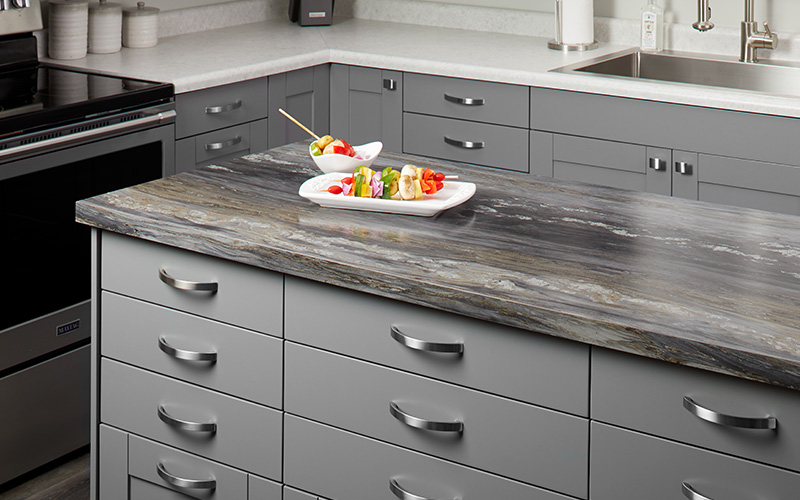Kitchen island countertop with vegetables 6320 Black Fusion