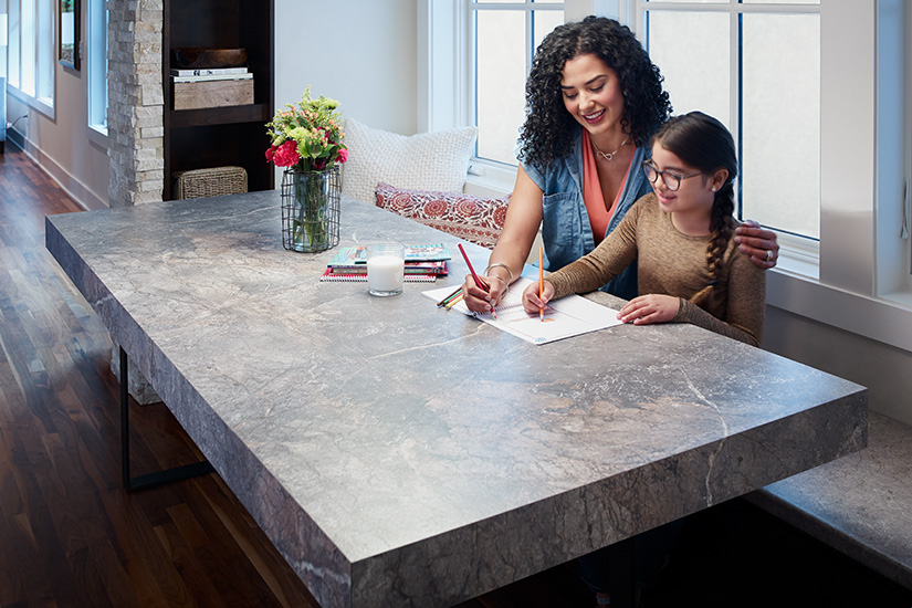 Coloring book on kitchen table 7405 Istanbul Marble 180fx
