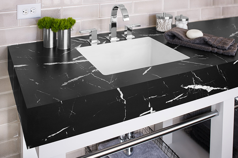 Bathroom vanity countertop 7403 Nero Marquina 180fx