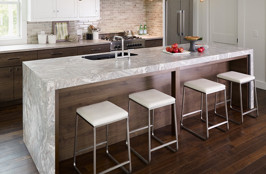 Breakfast bar kitchen countertop 7404 Neapolitan Stone, Pierre Napolitaine 180fx