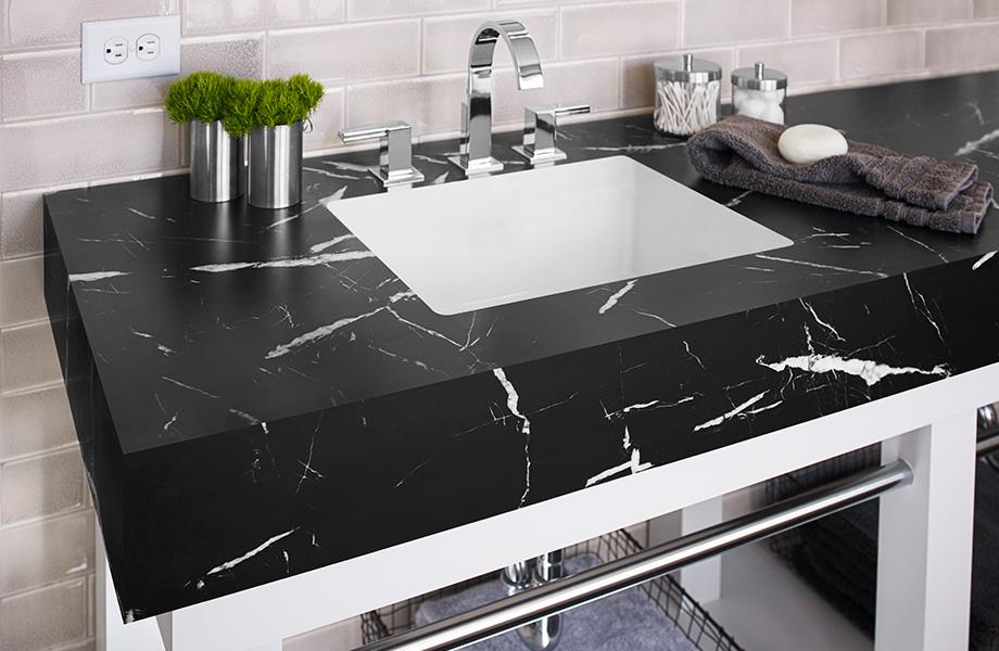 Bathroom vanity countertop 7403 Nero Marquina 180fx