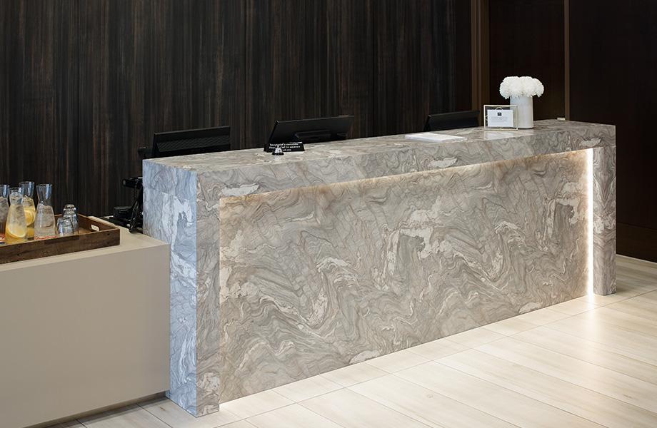 Reception desk 7404 Neapolitan Stone 180fx