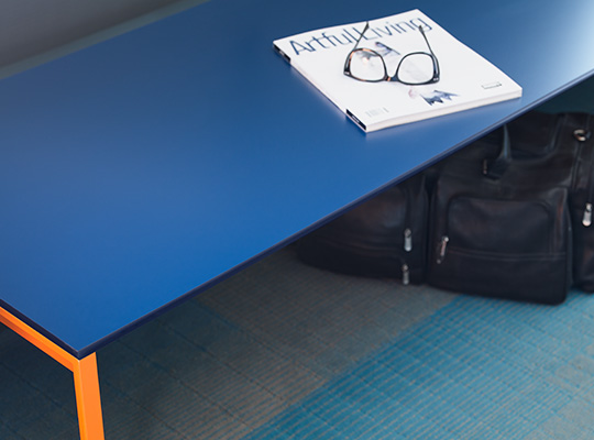 Bench with glasess 969 Navy ColorCore2 Compact