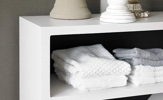 Linen on shelves 9285 White Twill ColorCore2
