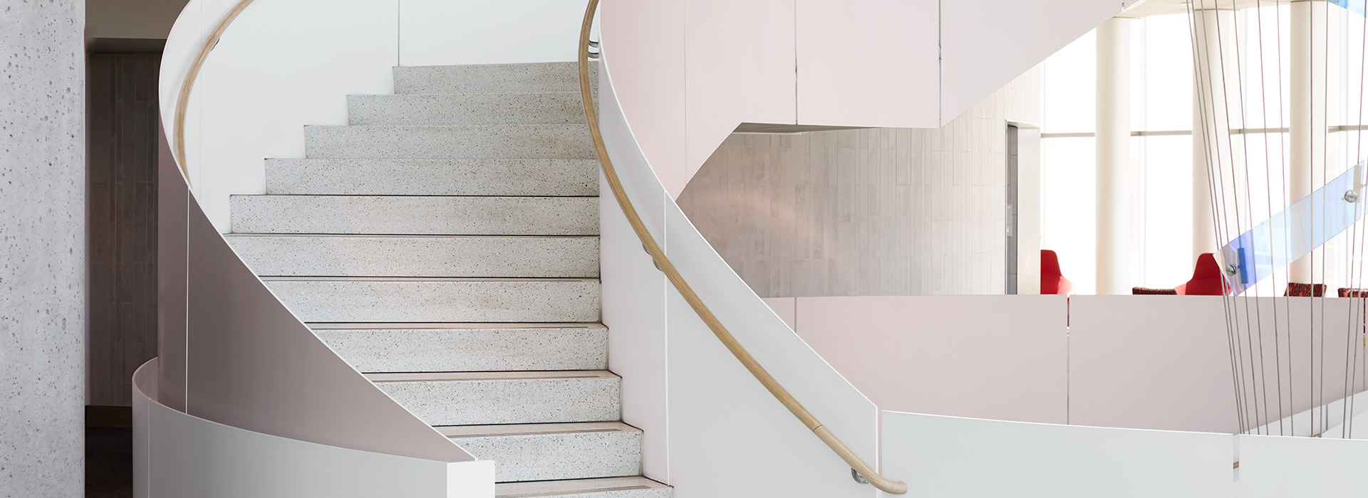 Spiral staircase M8545 Matte Rose Gold DecoMetal