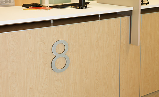 Reception desk 7012 Amber Maple HardStop
