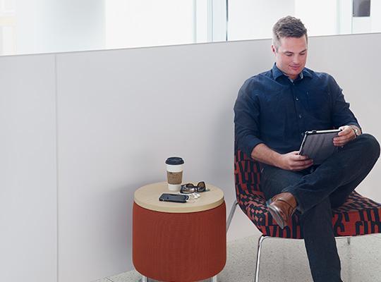 Man sitting and reading 949 White HardStop