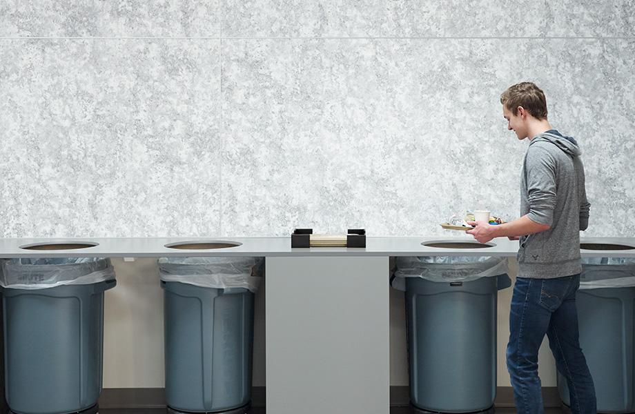 Trash cans 8958 Bubble Art HardStop