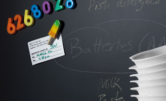 Notes M2253 Black Magnetic Chalkboard Specialty Markerboard