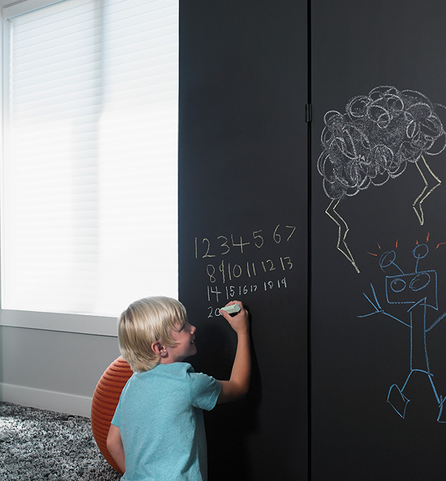 Chalkboard drawings with orange ball 3037 Black ChalkAble Writable Surfaces
