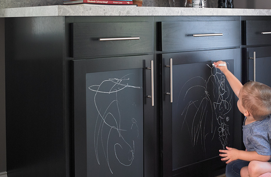 Chalkboard kitchen cabinets 3037 Black ChalkAble Writable Surfaces