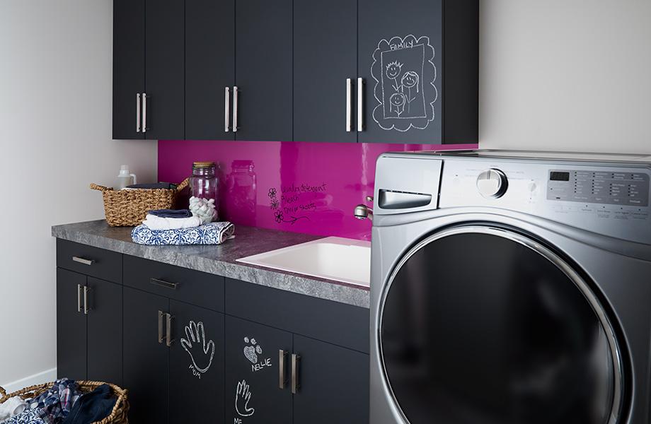 Laundry room 3037 Black ChalkAble 6907 Amarena Writable Surfaces