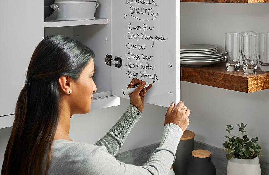 Dry erase kitchen cabinet doors 949 White Writable Surfaces