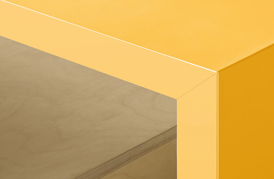 1982 Formica launches their ColorCore through colour laminate line 920x600