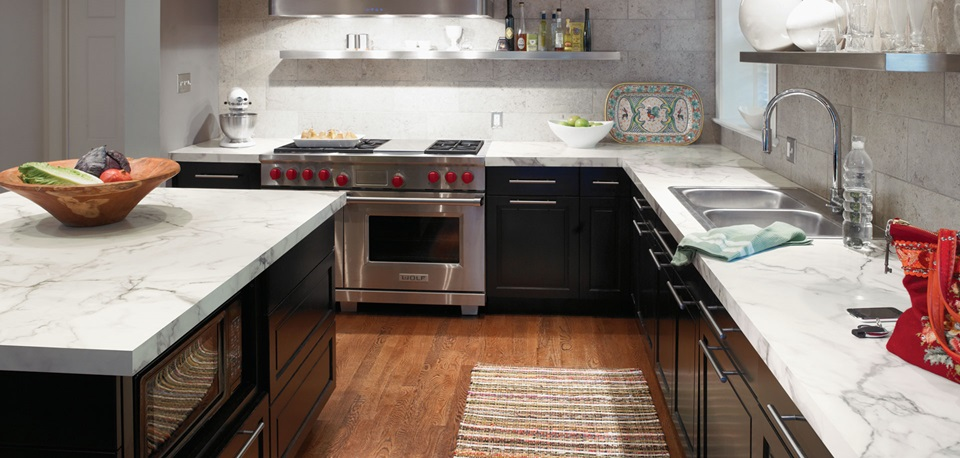 Update Your Dark Wood Cabinets With Formica Laminate Countertops