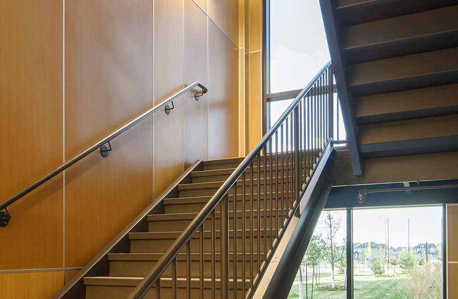 Dr. Anne Anderson High School stairwell with HardStop Panels
