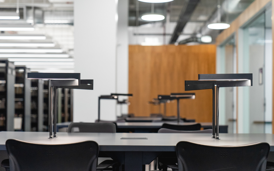 ETS library tables featuring  Formica Infiniti®