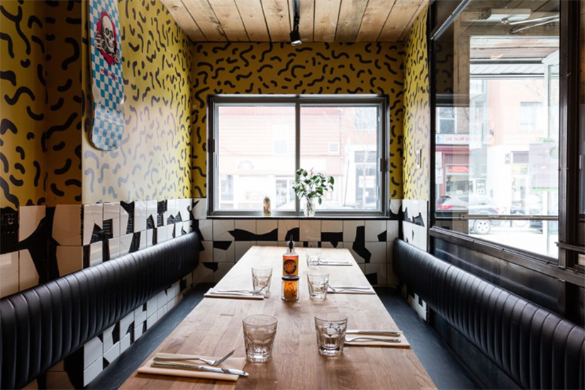 Fugazzi Pizza in Montreal with Formica Envision™ Custom Laminate