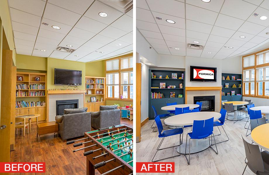 Ronald McDonald House Cincinnati before and after