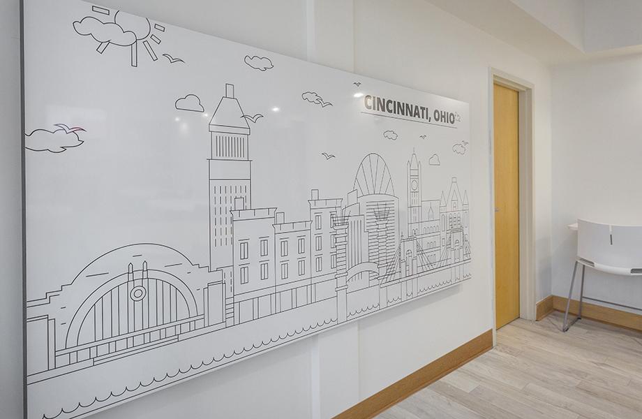 Ronald McDonald House Cincinnati Envision markerboard wall installation