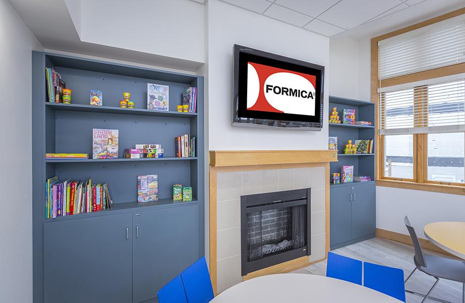 Ronald McDonald House Envision book shelves