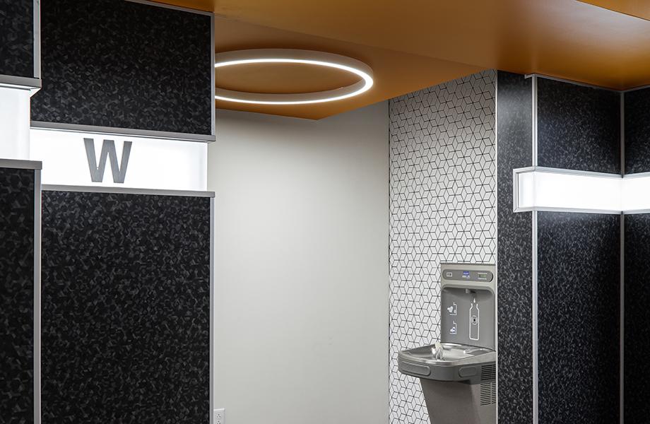 UK Inn women's restroom water fountain
