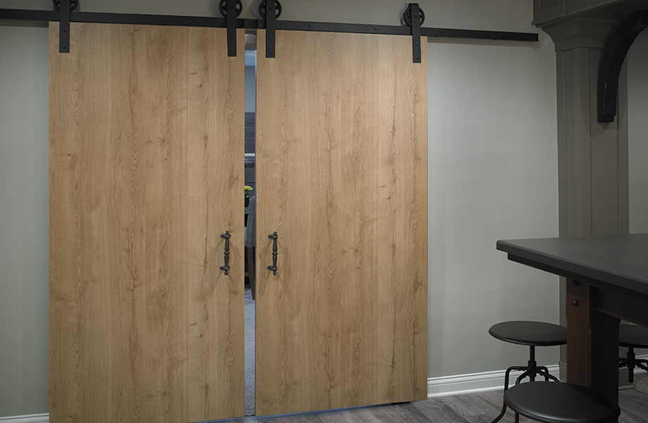 Woodgrain barn doors