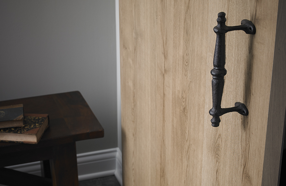 barn door with fancy handle