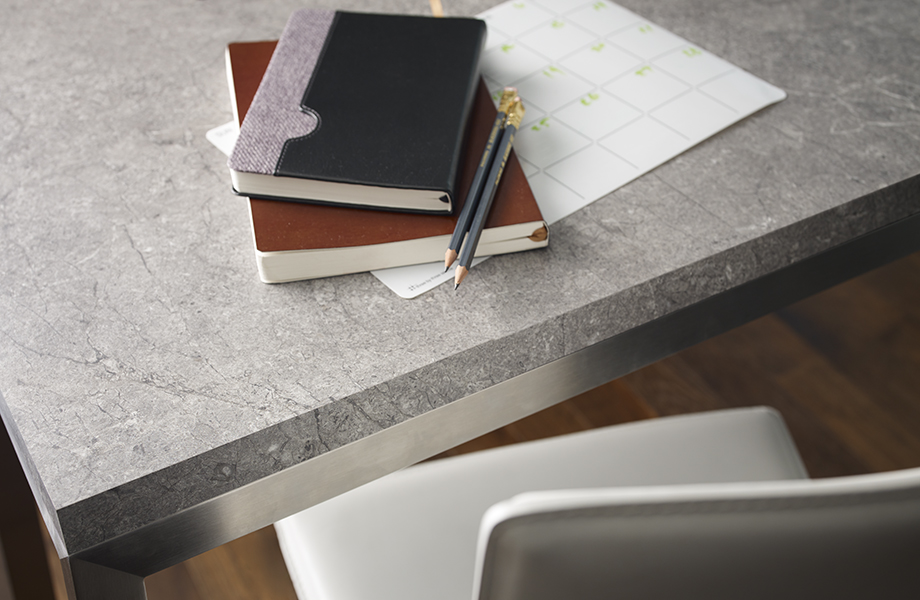Desk with 7407-34 Marmara Gray Formica® Laminate surface