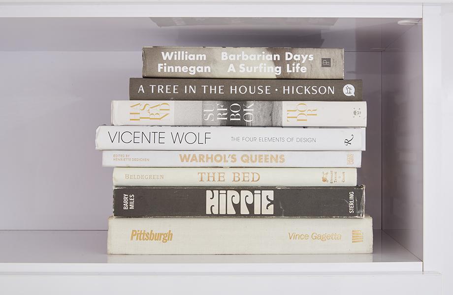 Leanne Ford white laminate closet books