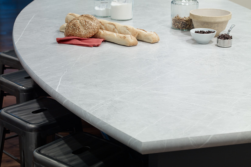 Kitchen countertop with bread 7402 Pietra Grafite 180fx