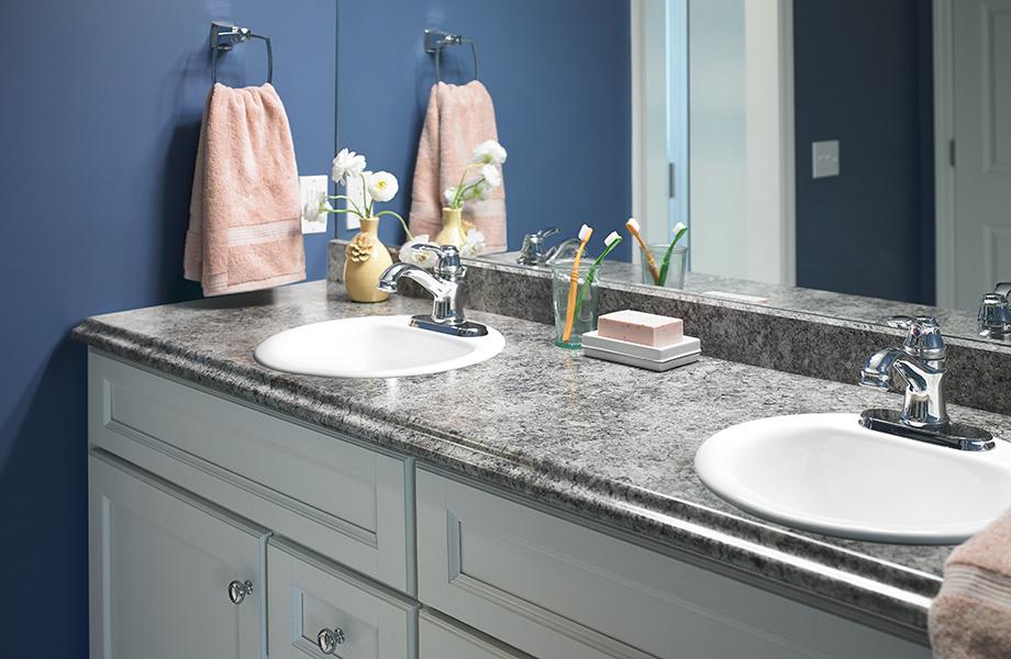 Perlato Granite bathroom vanity
